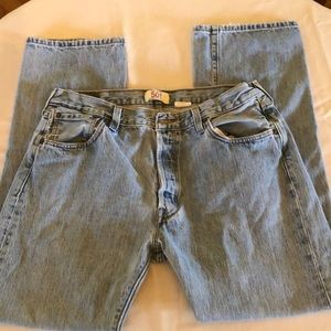 Faded Levi's Button-fly 501 Jeans SZ W36 L32